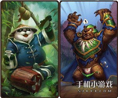刀塔传奇英雄熊猫酒仙和拍拍熊