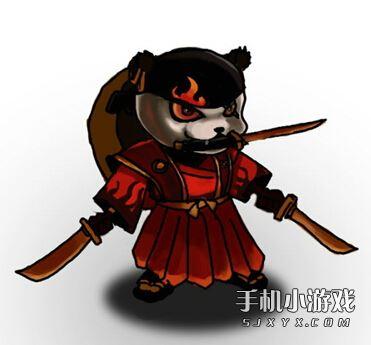 超萌火焰小熊猫 刀塔传奇玩家笔下的灰烬之灵欣赏