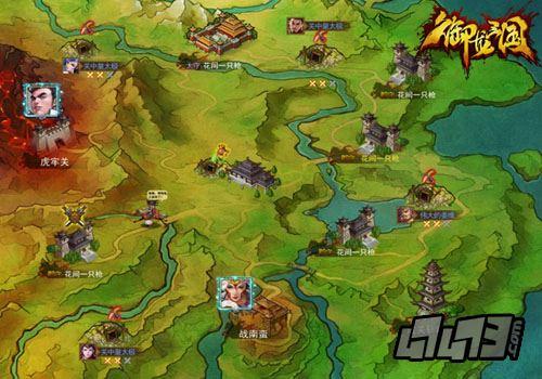战火烧遍九州 《御龙三国》野外世界地图曝光